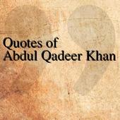 Quotes of Abdul Qadeer Khan icon