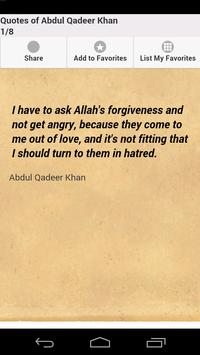 Quotes of Abdul Qadeer Khan poster