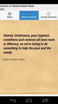 Quotes of Abdul Qadeer Khan screenshot 1