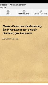 Quotes of Abraham Lincoln poster