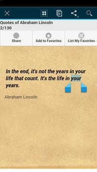 Quotes of Abraham Lincoln apk screenshot
