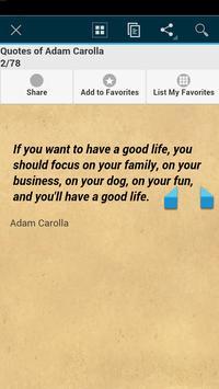 Quotes of Adam Carolla apk screenshot