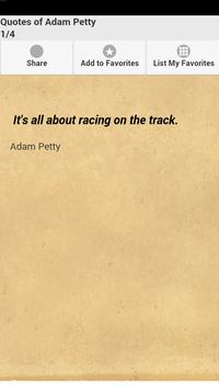 Quotes of Adam Petty poster