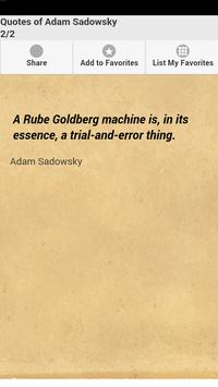 Quotes of Adam Sadowsky apk screenshot