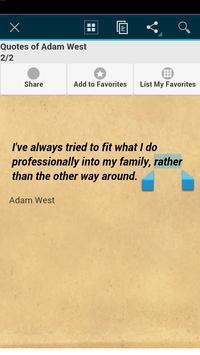 Quotes of Adam West apk screenshot