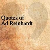 Quotes of Ad Reinhardt icon