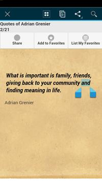 Quotes of Adrian Grenier apk screenshot