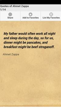 Quotes of Ahmet Zappa poster
