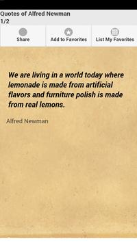 Quotes of Alfred Newman poster