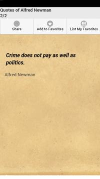 Quotes of Alfred Newman apk screenshot