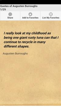 Quotes of Augusten Burroughs poster