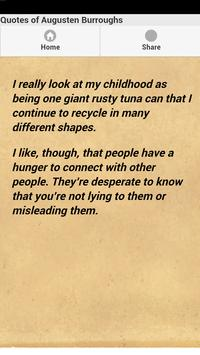 Quotes of Augusten Burroughs apk screenshot