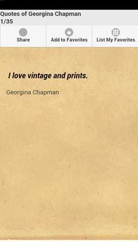 Quotes of Georgina Chapman poster