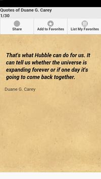 Quotes of Duane G. Carey poster