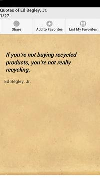 Quotes of Ed Begley, Jr. poster