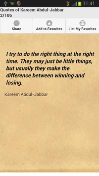 Quotes of Kareem Abdul-Jabbar apk screenshot
