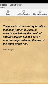 Quotes of John Berger poster