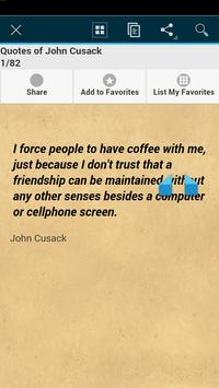Quotes of John Cusack apk screenshot