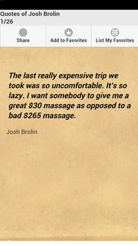 Quotes of Josh Brolin poster
