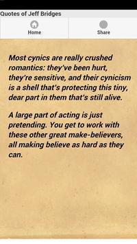 Quotes of Jeff Bridges apk screenshot