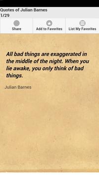 Quotes of Julian Barnes poster