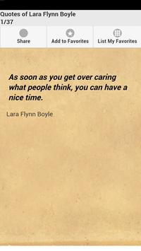 Quotes of Lara Flynn Boyle poster