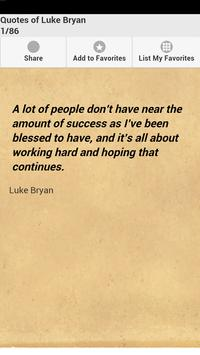Quotes of Luke Bryan poster