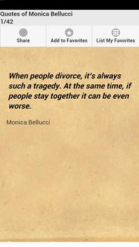 Quotes of Monica Bellucci poster