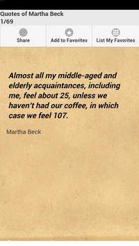 Quotes of Martha Beck poster