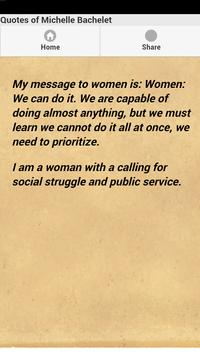 Quotes of Michelle Bachelet apk screenshot