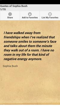 Quotes of Sophia Bush poster