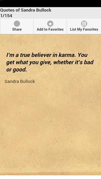 Quotes of Sandra Bullock poster