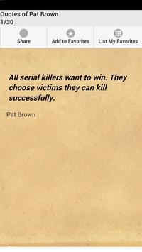 Quotes of Pat Brown poster