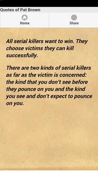 Quotes of Pat Brown apk screenshot