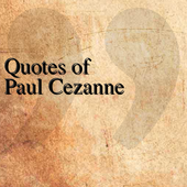 Quotes of Paul Cezanne icon