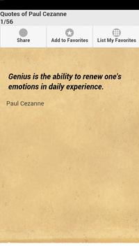 Quotes of Paul Cezanne poster