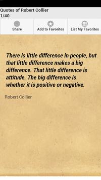Quotes of Robert Collier poster
