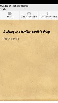 Quotes of Robert Carlyle poster