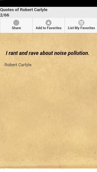 Quotes of Robert Carlyle apk screenshot