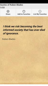 Quotes of Ruben Blades poster