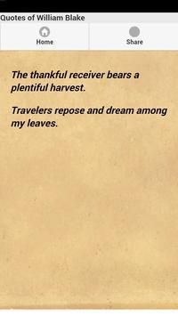 Quotes of William Blake apk screenshot