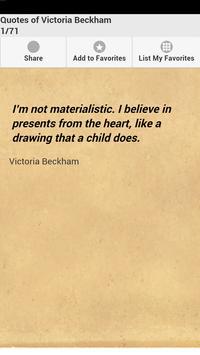 Quotes of Victoria Beckham poster