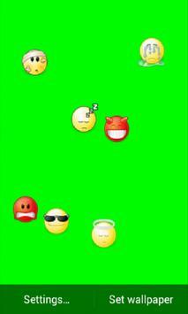 Falling Emoticons LiveWall screenshot 2