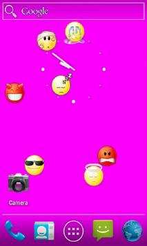 Falling Emoticons LiveWall screenshot 3