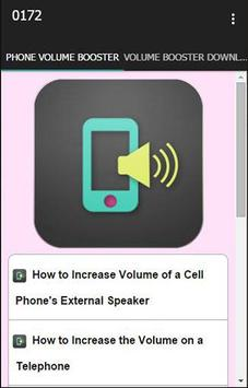 Cell Phone Volume Booster poster