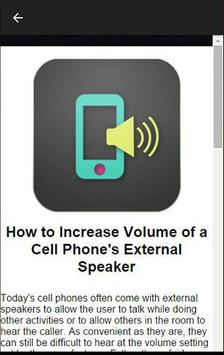 Cell Phone Volume Booster screenshot 1