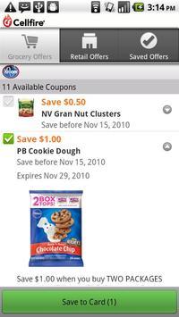 Cellfire Grocery Coupons apk screenshot