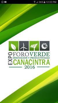Foro Verde CANACINTRA 2016 poster