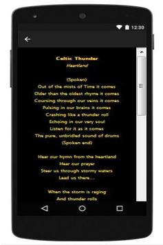 Celtic Thunder Lyrics 2016 apk screenshot