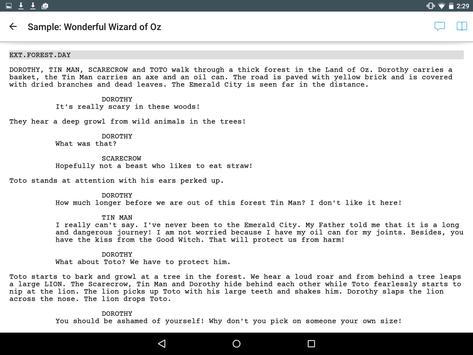 Celtx Script imagem de tela 4
